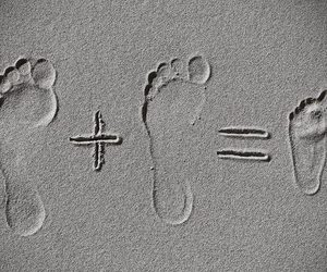 family, baby, and feet image