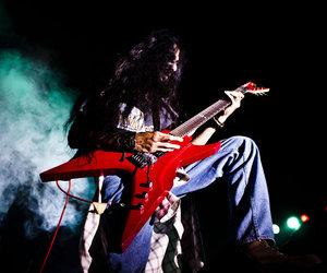 guitar, guy, and metal image