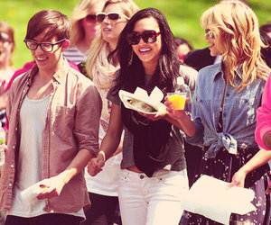 glee, dianna agron, and naya rivera image