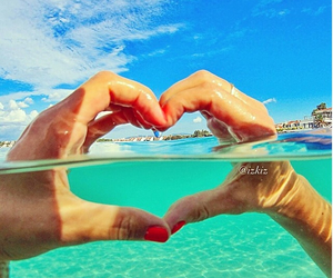 beach, freedom, and heart image