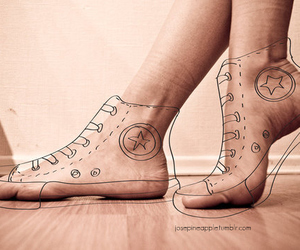 converse and feet image