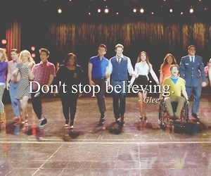 glee, don't stop believing, and new directions image