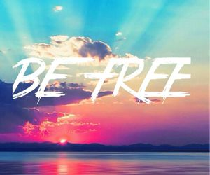 be, free, and summer image