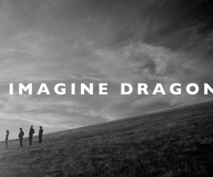 imagine dragons, music, and black and white image