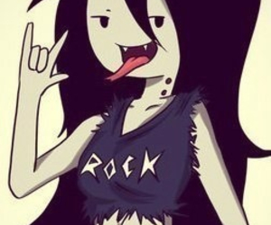 rock, marceline, and adventure time image