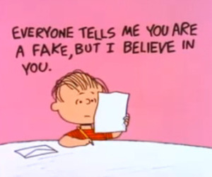 believe, fake, and charlie brown image