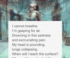 depression, poetry, and drowning image