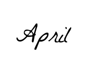 april, spring, and text image