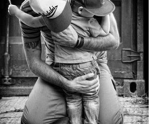 love, dad, and hug image