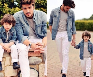 boy, dad, and sweet image