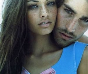 couple, freckles, and model image