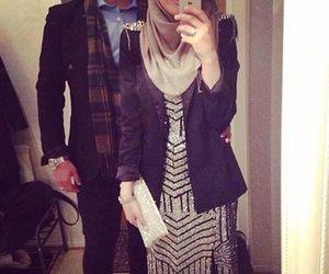 love, hijab, and couple image