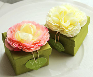 country wedding, green, and paper goods image