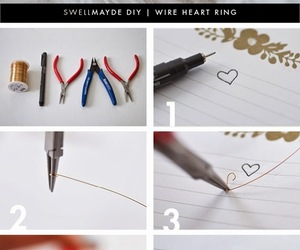 diy, heart, and ring image