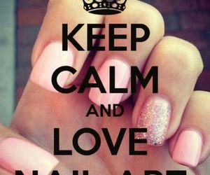 keep calm, nail art, and nails image