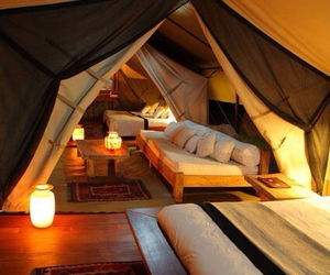 tent, home, and light image