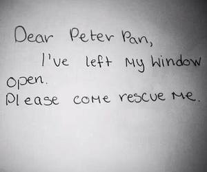 peter pan, quotes, and rescue image