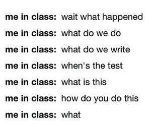 school, class, and me image