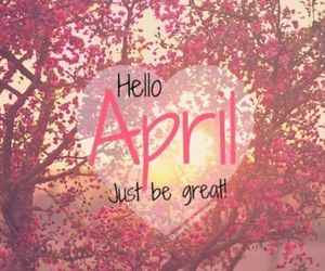 april, heart, and flowers image