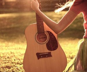 alone, girl, and guitar image
