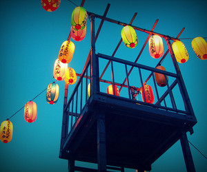 festival, lantern, and sky image