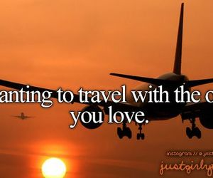 travel, love, and plane image