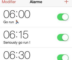 alarm, reality, and run image