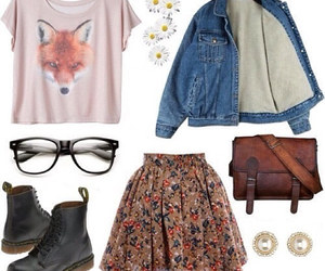 outfit, glasses, and fox image