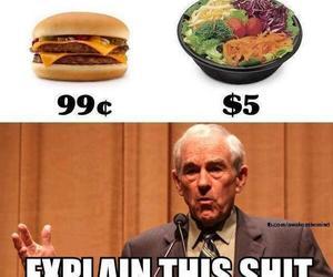 funny, salad, and lol image