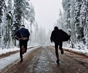 winter, snow, and boy image