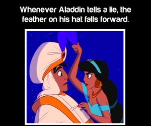 aladdin, disney, and fact image