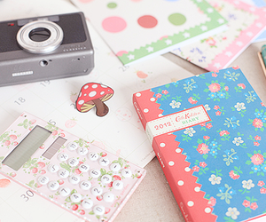 cute, camera, and notebook image