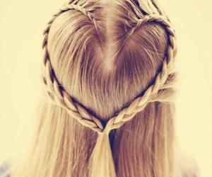 hair, heart, and braid image