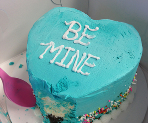 cake, blue, and be mine image