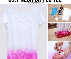 diy, pink, and shirt image