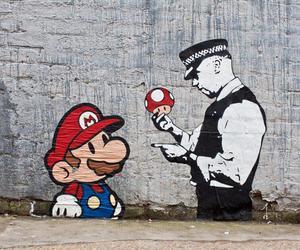 mario, art, and street art image