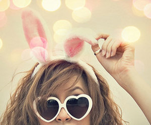 bunny, easter, and sunglasses image