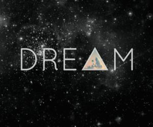 Dream, galaxy, and stars image