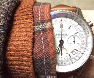 men's fashion, wool sweater, and leather strap image