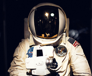 space, photography, and astronaut image