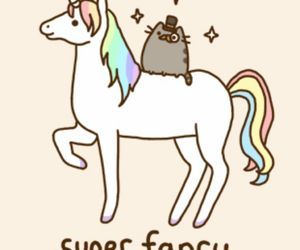 unicorn, cat, and pusheen image