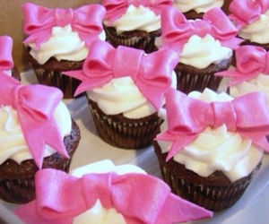pink, bow, and cupcake image
