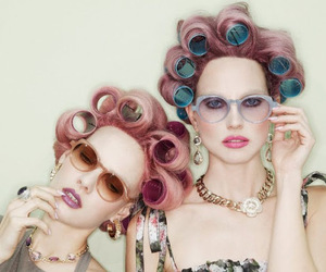 girls, pink, and hair image