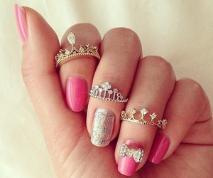 bow, jewelry, and pink image