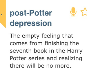 book, harry potter, and post potter depression image