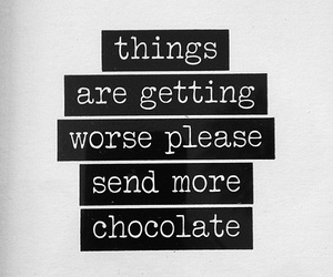 quote and chocolate image