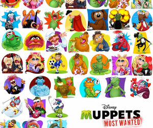 disney, kermit the frog, and Miss Piggy image