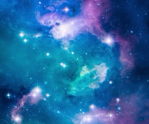 galaxy, blue, and sky image