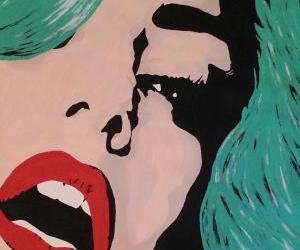 art, art deco, and Lady gaga image