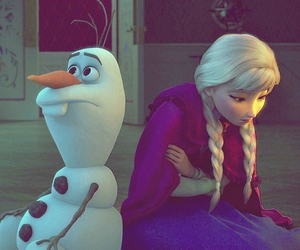 frozen, olaf, and movie image